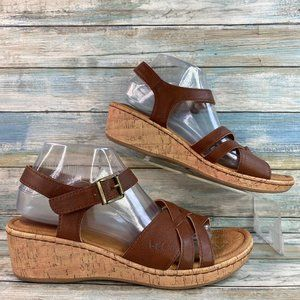 Born Concept Brown Wedge Sandals